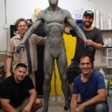 Sculptors on the drone host