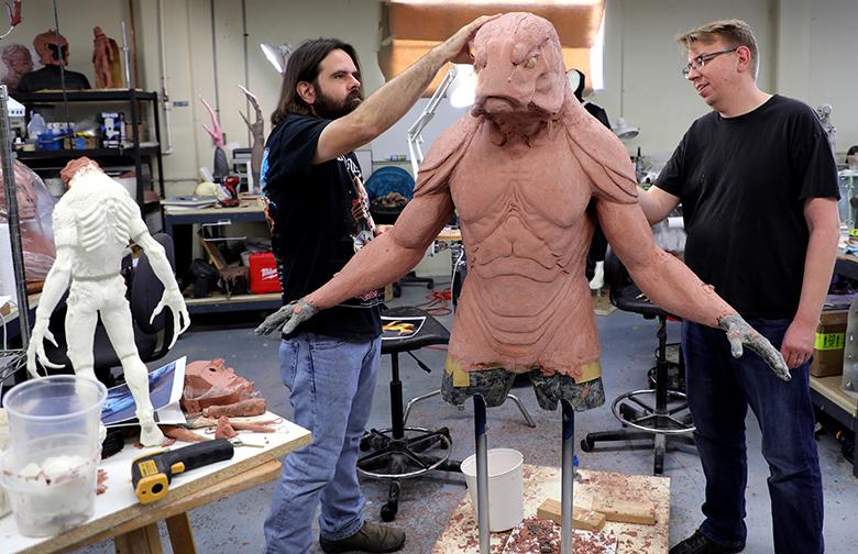 Fisherman Soldier Sculpture In Progress