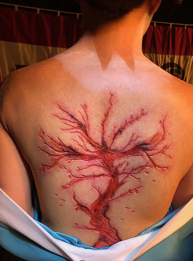 Tree Carved Into Back