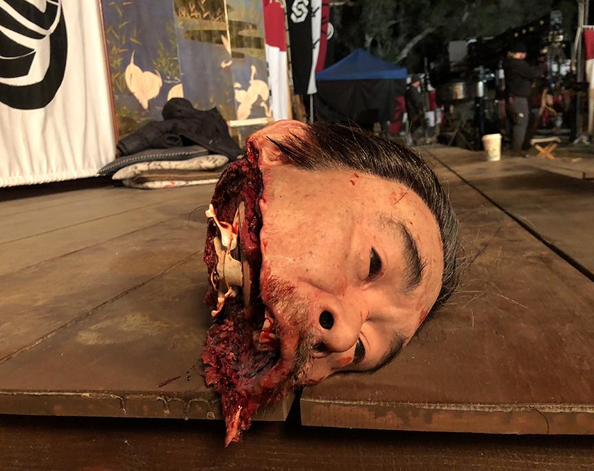 Severed half of head
